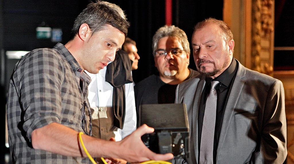 El director Pedro González Bermúdez y Jaime Azpilicueta