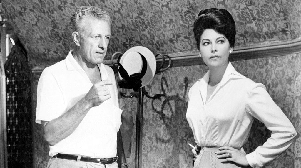 Ava Gardner junto a Nicholas Ray
