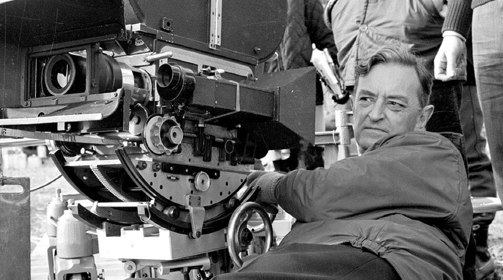 David Lean, durante el rodaje de uno de sus films
