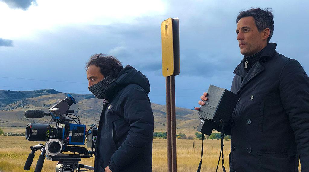 A la izquierda, Raúl Cadenas, director de fotografía. A la derecha, Pedro González Bermúdez
