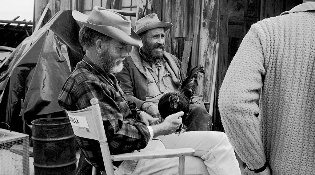 Sam Peckinpah junto a Jason Robards