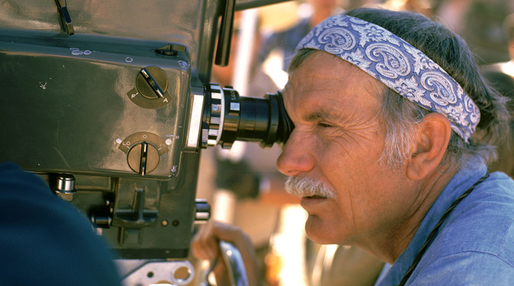 Sam Peckinpah en pleno rodaje